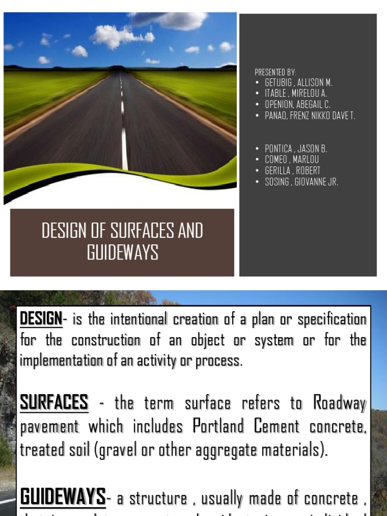 Surfaces and Guideways