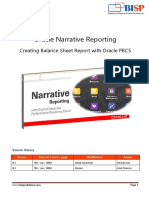Oracle Narrative Reporting Hands