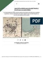 Estoseran los mapas de los aliados para invadir Oviedo y Gijónsi Franco seunía aHitler