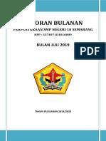 LAPORAN BULANAN PERPUSTAKAAN JULI 2019