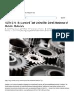 ASTM E10-18_ Standard Test Method for Brinell Hardness of Metallic Materials - ANSI
