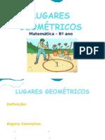 Lugares geométricos 8º ano