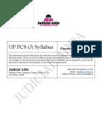 UP PCS (J) Syllabus