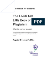 Little Book of Plagiarism