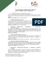 Ementa  Curso Extensao Acadêmica em Naturopatia