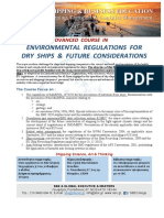ADVANCED COURSE IN ENVIRONMENTAL REGULATIONS FOR DRY SHIPS & FUTURE CONSIDERATIONS