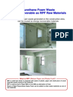 Polyurethane Foam Waste Energy Recoverable as RPF Raw Materials