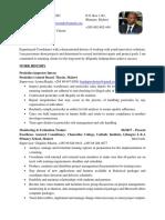 Herbert Nyirenda Responsibilities CV 21012020