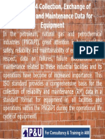 ISO 14224 EXCHANGE OF DATA ON MAINTENANCE AND RELIABILITY