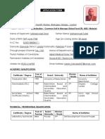 Application form 2019 (Mohammad Amin)