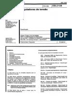 ABNT EB-2108 - Reguladores de tensão