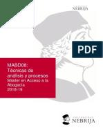MABD08_Técnicas de análisis y procesos guía docente actualizada