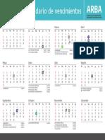 Calendario de vencimientos impositivos en la Provincia