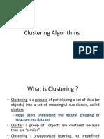 8. Clustering Algorithms