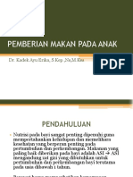 10. PEMBERIAN MAKAN PADA ANAK