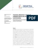 CONSUMO ALIMENTAR E NÍVEIS DE COLESTEROL SÉRICO EM MULHERES NUTRICIONISTAS
