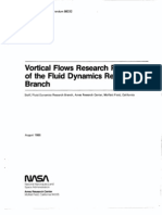 Vortical Flows Research Program of the Fluid Dynamics Research Branch (August 1, 1986)