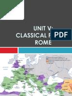 Unit V- Classical Period - Rome (1)