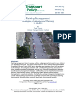 Parking Managment Strategies Evaluation and Planning