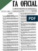 ++Gaceta Oficial N° 38.984 31 julio 2008