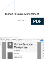 Human Resource Management Lecture 2&3