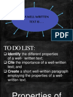 Competency 4 Properties of A Well Written Text -Student Copy