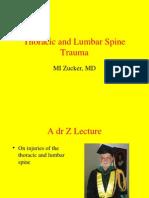 Thoracic and Lumbar Spine