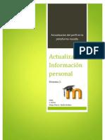 Como Actualizar la Información personal del instructor