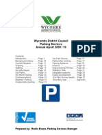 Wycombe Parking Services WDC Yearly Report 2009-10 Final
