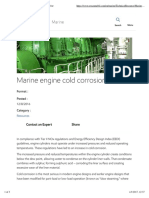Marine engine cold corrosion