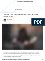 Django_ How to use .env file for storing sensitive setting values
