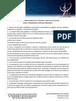 Reglamentos y Bases Festival de La Cancion Capítulo Venezuela y Reglamento General FICPDE