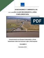 ESTUDIO SOCIECONOMICO Y AMBIENTAL EN LA CUENCA LUJAN RECONQUISTA y AREA COMPLEMENTARIA