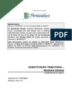 SUBSTITUIÇÃO TRIBUTÁRIA - REGRAS GERAIS
