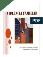 CONFERENCIA DE VIOLENCIA FAMILIAR