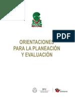 Orientación para la Planeacion