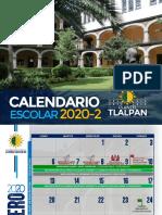 CALENDARIO ESCOLAR 2020 - 2