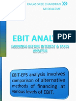 EBIT-EPS Analysis