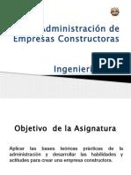 Administración de Empresas Constructoras