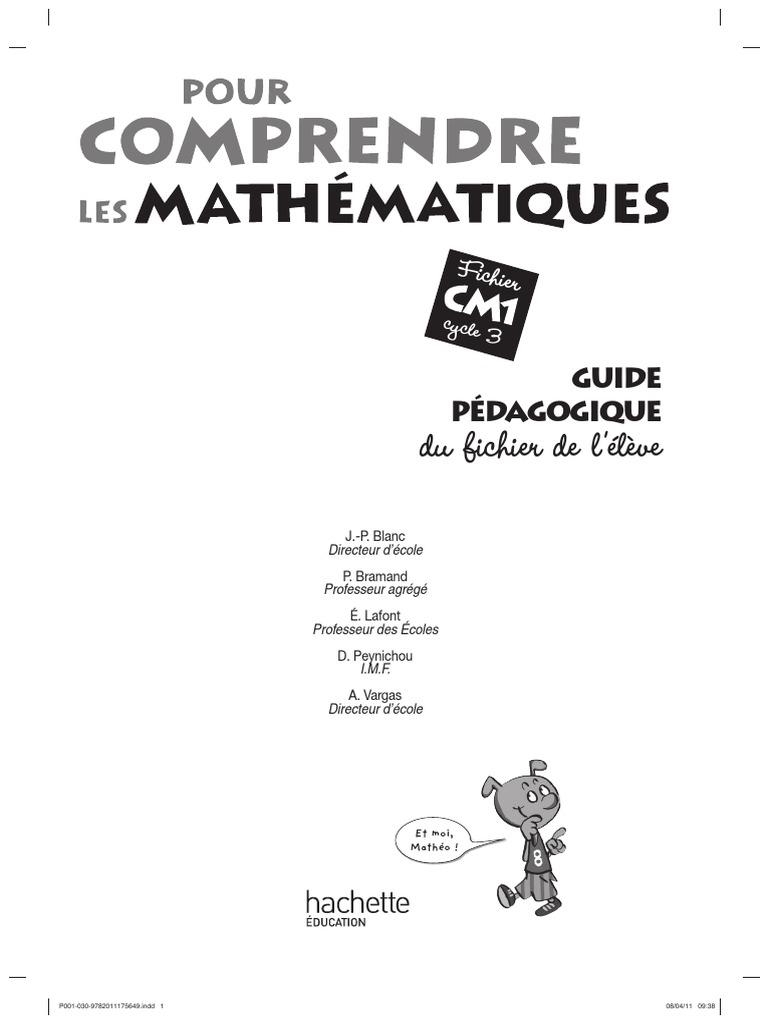Cm1 Livre Du Maitre Pour Comprendre Les Maths Pdf Multiplication Division