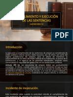 Cumplimiento y ejecución de las sentencias en amparo