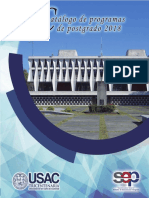 Catalogo Postgrado 2018 USAC