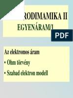 Egyenáram 1