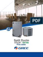 Split ducto onoff - Gree