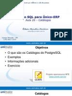 Curso SQL - Unico - Aula20 - Catálogos