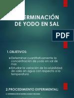 DETERMINACIÓN DE YODO EN SAL expo
