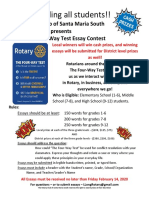 Essay Contest Flyer