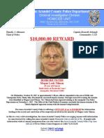 Tilman Homicide Reward Flyer