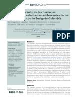 Funciones ejecutivas (Tamayo L ., D. A, Merchán M., V., Hernández C., J. A., Ramírez B., S.M., & Gallo R., N.E; 2018)