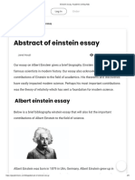 Einstein essay. Academic writing help